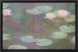 Water Lilies Framed Canvas Print by Claude Monet