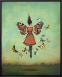 Imago Sky Framed Canvas Print by Duy Huynh