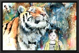 Mr Tiger Framed Canvas Print by Lora Zombie