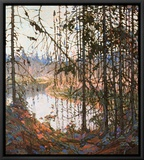 Northern River Framed Canvas Print by Tom Thomson