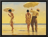 Mad Dogs Framed Canvas Print by Jack Vettriano