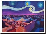 M Bleichner - Starry Night In Marrakech - Şasili Gerilmiş Tuvale Reprodüksiyon