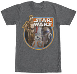 Star Wars The Force Awakens- Droid Trio T-shirts