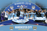Manchester City League Cup Winners 2016 Póster
