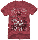 Star Wars The Force Awakens- Middle Of The Action T-shirts