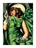 Jeune fille aux gants (detail) Posters av Tamara De Lempicka
