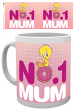 Looney Tunes Number One Mum Mother's Day Mug Taza