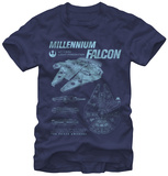 Star Wars The Force Awakens- Falcon Schematics T-shirts