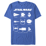 Star Wars The Force Awakens- Mech Chart T-shirts