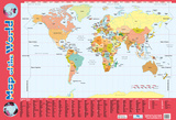 Map Of The World Plakater