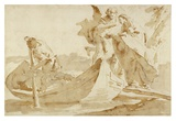 Flight into Egypt (recto); Various Studies (verso) Posters by Giovanni Battista Tiepolo
