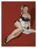 Mid-Century Pin-Ups - Magazine Cover - The Gift Print by Peter Driben