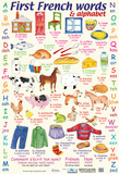 First French Words & Alphabet Posters