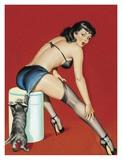 Mid-Century Pin-Ups - Flirt Magazine - Playful Pussy Posters af Peter Driben