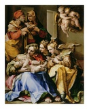Holy Family with Saints Anne, Catherine of Alexandria, and Mary Magdalene Posters by  Nosadella