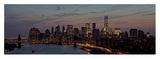 Lower Manhattan at dusk Posters by Richard Berenholtz