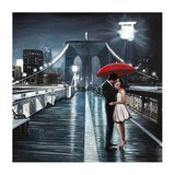 Kissing on Brooklyn Bridge Prints by Pierre Benson
