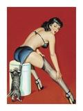 Mid-Century Pin-Ups - Flirt Magazine - Playful Pussy 高品質プリント : ピーター・ドリベン