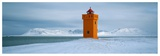Krossnes lighthouse, Iceland Posters af Jean Guichard