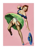 Mid-Century Pin-Ups - Wink Magazine - Strong Wind Prints by Peter Driben