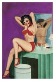 Mid-Century Pin-Ups - Bedtime Stories Poster by Peter Driben