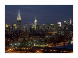 Midtown Manhattan at night Prints by Richard Berenholtz