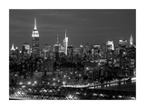 Midtown Manhattan at night Posters by Richard Berenholtz