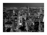 Midtown Manhattan at night Posters by Richard Berenholtz