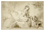 Oh! If Only He Were as Faithful to Me Art par Jean-Honore Fragonard