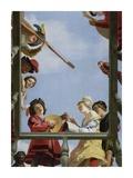 Musical Group on a Balcony Prints by Gerrit Van Honthorst