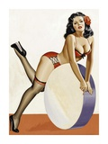Mid-Century Pin-Ups - Over a drum Posters by Peter Driben