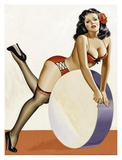 Mid-Century Pin-Ups - Over a drum Prints by Peter Driben