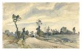 Louveciennes, Route de Saint-Germain Affiches par Camille Pissarro