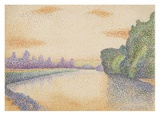 The Banks of the Marne at Dawn Print by Albert Dubois-Pillet