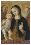 Madonna and Child with Two Hermit Saints Prints by Bernardino Fungai