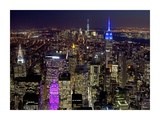 Midtown and Lower Manhattan at night Prints by Richard Berenholtz