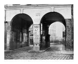 Paris, about 1865 - The Double Doorway, rue de la Ferronnerie Prints by Charles Marville