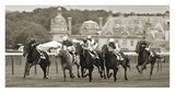 Prix de Diane prestigious horse race in Chantilly Prints by Peet Simard