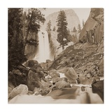 Piwayac - Vernal Fall - 300 ft. Yosemite, California, 1861 Prints by Carleton Watkins