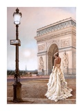 Romance in Paris II Poster by John Silver