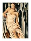 Portrait de Madame Allan Bott (detail) Print by Tamara De Lempicka