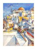 Santorini Prints by Luigi Florio