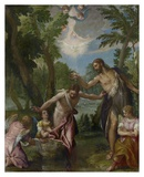 The Baptism of Christ Poster af Paolo Veronese