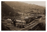 Smelting Works, New Almaden, Santa Clara, California, 1863 Print by Carleton Watkins