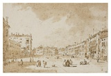 View of Campo San Polo, Venice, ca. 1790 Prints by Francesco Guardi
