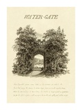 Water-Gate, 1813 Art by Humphry Repton