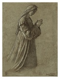 Study of the Virgin (recto); Study of the Virgin and of Hands (verso) Plakater af Vittore Carpaccio