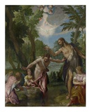 The Baptism of Christ Plakater af Paolo Veronese