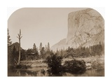 Tutucanula - El Capitan 3600 ft. Yosemite, California, 1861 Prints by Carleton Watkins