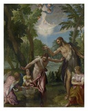 The Baptism of Christ Posters af Paolo Veronese